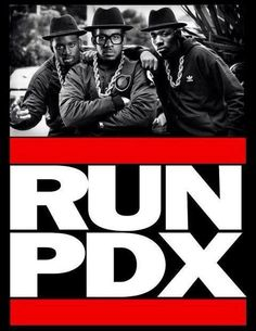 Portland Trail Blazers 'RUN PDX' Art