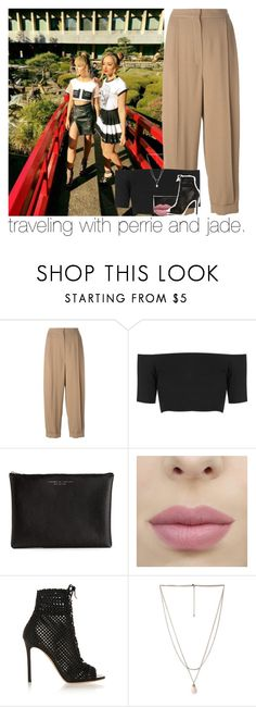 """traveling with perrie and jade."" by sydneykhall ❤ liked on Polyvore featuring Sportmax, Topshop, Carven, Gianvito Rossi and Forever 21"