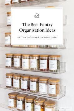 The best pantry and kitchen organisation ideas. small pantry organisation - pantry organisation walk in - kitchen pantry organisation - diy kitchen organiser - kitchen storage ideas - kitchen decor ideas - diy kitchen - organisaed kitchen - how to organise your kitchen