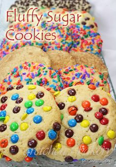 Big Fluffy Bakery Style Sugar Cookies by Gretchen  sugar-cookies  Big fluffy bakery style sugar cookies~ yep those same ones you used to get when you were a kid and they were bigger than your face!  Well now you can make them at home and no one has to know you are eating cookies bigger than you face anymore!!  Ok, Ok  I didn't make them as big as my face this time (since I have some degree of self control in my old age)!  But ~you can make them any size you like and then dip them ...