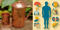 Copper mugs and pitchers can do much more than just decorate a trendy kitchen; they can keep your mind and body sharp. Ayurveda medicine has long lauded the benefits of storing water Continue Reading → Copper Vessel, Copper Cups, Health And Beauty, Health And Wellness, Health Tips, Copper Pyramid, Storing Water, Benefits Of Drinking Water, Healthy Body Weight