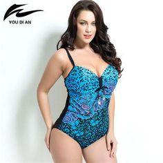 54fef95f90a06  EBay  Summer Style Womens Plus Size One Piece Swimsuit Swimwear Padded  Monokini Women Bathing