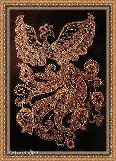 Картина, панно, рисунок Роспись: Жар-птица Краска День рождения. Фото 1