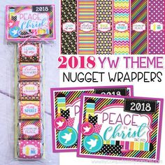 2018 YW Theme Printables - printable nugget wrappers and gift tag, great handout or favor for New Beginnings! #mycomputerismycanvas