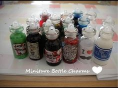 Miniature Bottle Charms Update #1 - YouTube