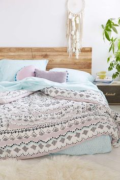 Plum & Bow Mia Medallion Bed-In-A-Bag Snooze Set - $189 for full bedding set. Boho Chic Bedroom, Dream Bedroom, Home Bedroom, Bedroom Decor, Bedroom Ideas, Bedroom Beach, Modern Bedroom, Girls Bedroom, Bedroom Romantic