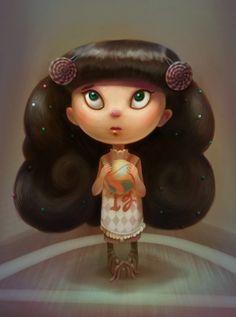Candy Basketball Girl by Sarita Kolhatkar, via Behance