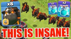 Lava Boom with balloons best attack and three star clash of clan