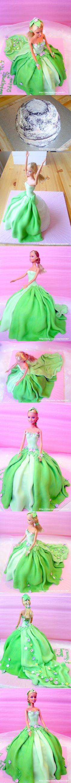 Barbie Sugar cake
