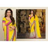 karishma-kapoor-pleasing-yellow-saree