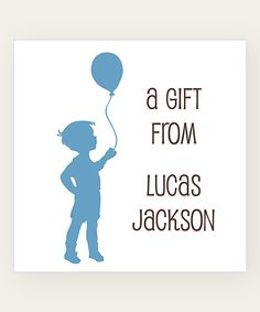 Look at this Lake Balloon Boy Personalized Gift Label - Set of 40 on #zulily today!