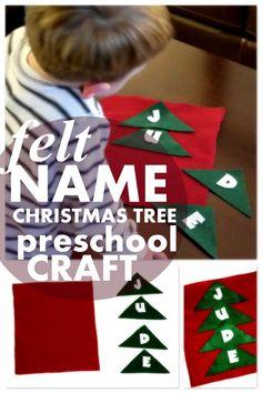 felt name tree - - preschool holiday Christmas Craft