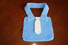 Ravelry: Manly Bib pattern by Cheryl Fisher (FREE PATTERN)