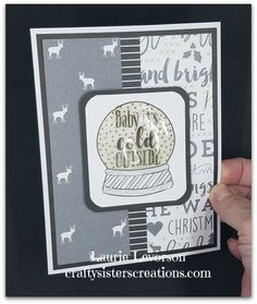 CTMH October SOTM Christmas Tunes with Silver and Gold paper.