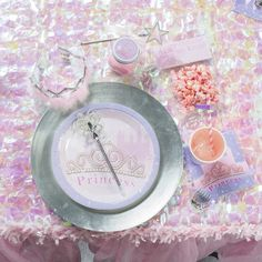 Our Pretty #Princess Dinner Plates feature a beautiful tiara and the word Princess on a castle background of pink with a lavender border. Each package contains eight plates. Everything els you'll also find on Shindigz Princess Pinterest Board at http://pinterest.com/shindigz/princess-birthday-party-ideas/