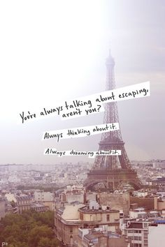 Everybody loves to travel and see the world. The Piccsy Travel stream brings you the most beautifully visit-tempting images from travel destinations around the world. Be inspired for your next holiday, or share your dream destination with a friend. Pont Paris, Paris 3, Paris France, Welcome To My Life, Positive Energie, Life Quotes Love, City Quotes, Frases Tumblr, Paris Ville