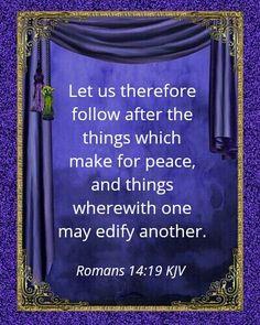Romans 14:19 KJV