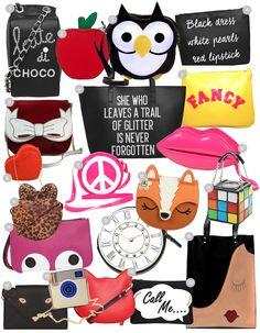 comprando-bolsas-divertidas-online Novelty Handbags, Novelty Bags, Unique Backpacks, Cute Backpacks, Cute Purses, Purses And Bags, Circle Purse, Felt Purse, String Bag