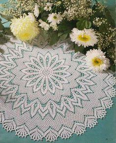 Delicadezas en crochet Gabriela: Hermosa servilleta