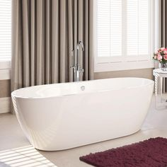 1550mm Modern Small Bathroom Bath Freestanding Oval Roll Top Bathtub Br67 In Home Furniture
