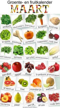 Natuurlijk Gezond en Mooi: Groente- en fruitkalender maart
