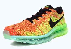 Nike Flyknit Air Max – Orange – Green – Black