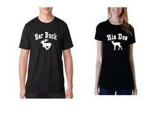 Couples'+matching+tshirts+set+Her+Buck+His+Doe+by+BayWear+on+Etsy,+$24.99