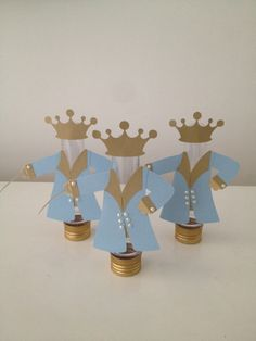 Tubete Principe Baby Shower Crafts, Baby Shower Favors, Baby Shower Themes, Prince Birthday Party, 1st Birthday Parties, Little Prince Party, Princess Party, Cinderella, Ideas