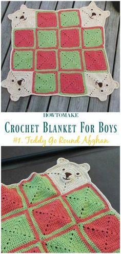 64 new Ideas baby boy blankets ideas crochet afghans Baby Boy Crochet Blanket, Baby Afghans, Baby Boy Blankets, Crochet Blankets, Kids Blankets, Afghan Crochet Patterns, Baby Patterns, Knitting Patterns, Crochet Afghans
