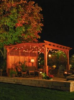 Wood pergola with privacy panel http://www.backyardunlimited.com/pergolas