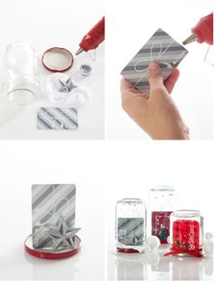 Do it yourself gift card snow globe globe diy snow globe and gift how great are these diy gift card snow globes to give as party favors load up a card it will look so much nicer wrapped up in a snow globe solutioingenieria Gallery