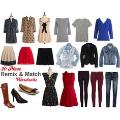 """In My Closet: """"Remix and Match Wardrobe"""" by brittney-guest on Polyvore"""