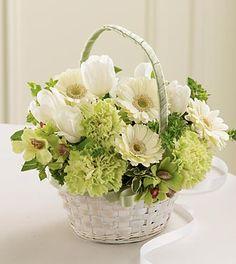 Fresh Picked Flower Girl Basket ITEM W11-4248 arranged by a florist in Palm Beach Gardens, FL : Flower Kingdom