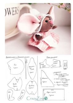 Trendy sewing patterns free animals stuffed toy 44 ideas - Old Media Sewing Stuffed Animals, Stuffed Animal Patterns, Sewing Crafts, Sewing Projects, Sewing Ideas, Fabric Toys, Sewing Dolls, Animal Crafts, Felt Toys