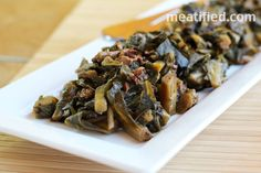 Easy Collard Greens with Bacon {AIP}