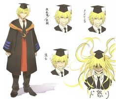 Koro sensei in human form. (Fan made human (real human form has been shown in manga) )