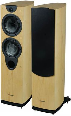 Wharfedale - Evo2 40  These beautifully curved wood cabinets make the floor standing speaker so much more than an ugly black box and the sound quality is rich, clear and so absorbing you'll want to revisit every album you've ever listened to