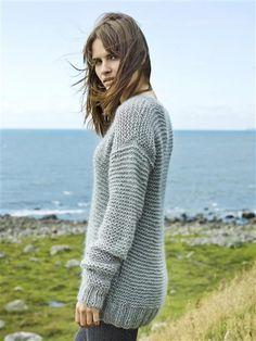 1416: Modell 8 Rillestrikket genser #mohair #strikk #knit