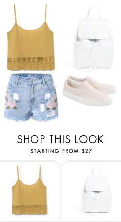 """""""Untitled #244"""" by ines-louu ❤ liked on Polyvore featuring MANGO, Mansur Gavriel and Vans"""