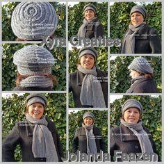 #PATR1097 #haakpatroon #patroon #haken #gehaakt #sjaal #shawl #scarf #baret #beret #crochet #pattern  #pet #muts #cap #hat  #DIY  Patroon (NL) is beschikbaar via: Pattern (English-US) is available at: www.xyracreaties.nl www.ravelry.com/stores/xyra-creaties www.etsy.com/shop/XyraCreaties