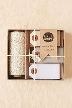 Knot & Bow Tag And Twine Box Set