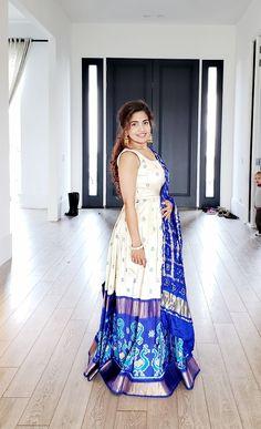 20 Ideas Fashion Design Projects For Kids Diy Clothes Half Saree Designs, Lehenga Designs, Blouse Designs, Indian Designer Outfits, Designer Dresses, Dress Paterns, Ikkat Dresses, Long Gown Dress, Indian Gowns Dresses
