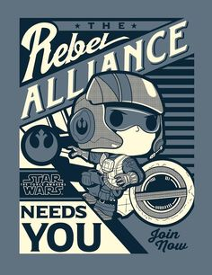 Star Wars The Force Awakens Poe Propaganda Pop Tee by Funko, FYE exclusive