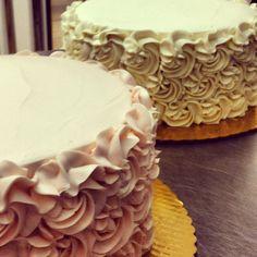 rosettes cake for Valentines Day!