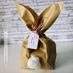 Osterhase Verpackung, Easterbunny packing, Papiertüte,: