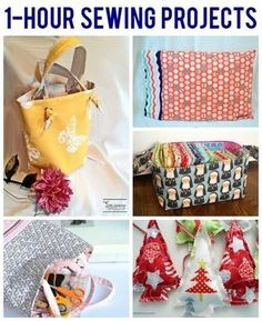 Make the most of your Daylight Saving Time with 6 super quick sewing projects can be finished in 1 hour or less! From a quick tote to a carry-all basket and even pajamas, here are some great ideas to try.