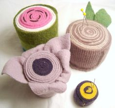 wool pin cushions collection