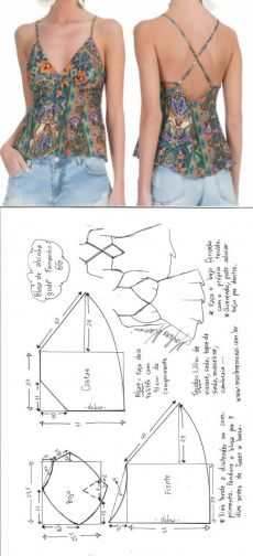 Ideas For Sewing Clothes Couture Patrones Dress Sewing Patterns, Sewing Patterns Free, Sewing Tutorials, Clothing Patterns, Shirt Patterns, Fashion Sewing, Diy Fashion, Ideias Fashion, Moda Fashion