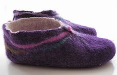 vodeo how-to make felted slippers from wool roving