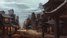 New Concept Art Fantasy House Rpg 25 Ideas Chinese Buildings, Ancient Chinese Architecture, Asian Architecture, Architecture Logo, Architecture Background, Concept Architecture, Concept Art Landscape, Fantasy Concept Art, Fantasy Landscape